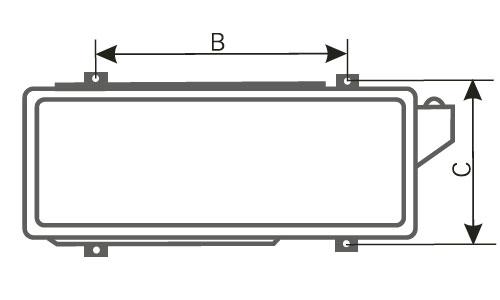 Размеры крепления наружных блоков Астер