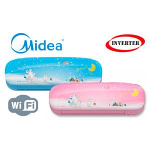 Кондиционер Midea MSEABU-12HRFN1(SB/SP) / MOB01-12HFN1 серии инвертор Kids Star