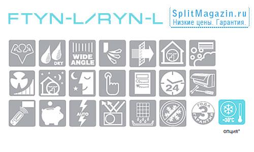 Сплит-система Daikin FTYN20L / RYN20L