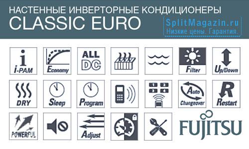 Кондиционер Fujitsu ASYG07LLCE-R / AOYG07LLCE-R серии Classic Euro