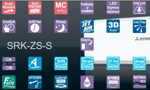 Функциональные особенности SRK50ZS-S SRC50ZS-S