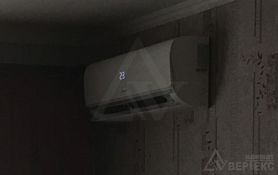 Установка кондиционера Aster - фото монтажа